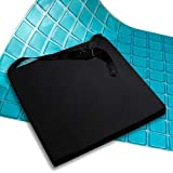 AIESI Professionell Antidekubitus Sitzkissen (Zertifikat) Memory in polyurethanschaum mit internen viskoelastischen gel-pad und gürtel cm 44x44x5h - Kissen für Autos Bürostuhl Klapprollstuhl