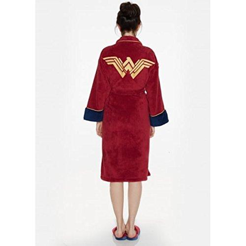 V oficial de Batman Superman Wonder mujer paño grueso y suave bata albornoz - adulto