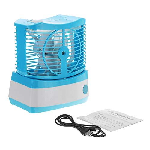 TuToy Usb Portable Mini Abs Lüfter Kühlung Desktop Klimaanlage Lüfter Befeuchtet Foggy - Blau