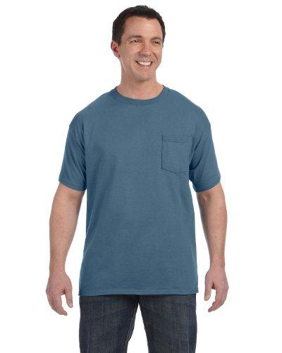 Stag Party, White auf American Apparel Fine Jersey Shirt denim-blau