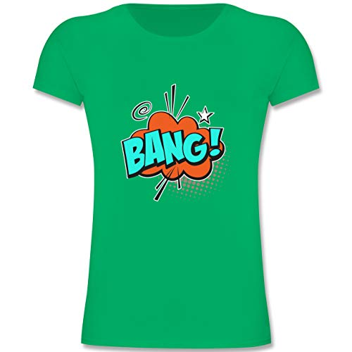 Karneval & Fasching Kinder - Popart Karneval Kostüm BANG! - 164 (14-15 Jahre) - Grün - F131K - Mädchen Kinder (Pop Art Comic Girl Kostüm)