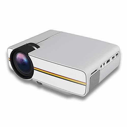 Mini-LED-Projektor Home-Handy gerade mit Bildschirmprojektor mit HDMI/USB/SD für Smartphone, Laptop, Heimkino, Outdoor-Film & Gaming - Weiß
