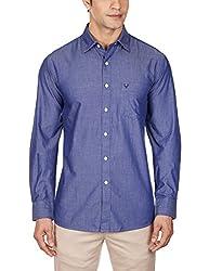 Allen Solly Mens Casual Shirt (8907308488269_AMSF515G02875_42_Dark Blue With Blue)