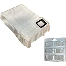 Filterprofi - Kit de 6 bolsas (microfibra) + 6 ambientadores para aspiradora Vorwerk Folletto Kobold VK 135, 136, VK135, VK136