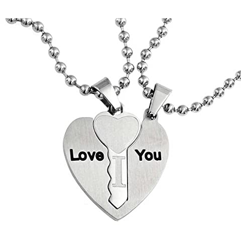 Bling Jewelry Me encanta que la pareja de mi corazón colgante de Acero Inoxidable 18