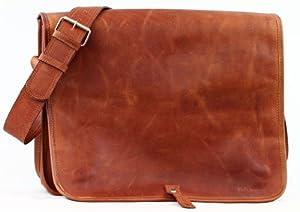 Il Messaggero (L), borsa pelle vintage, la borsa a spalla, borsa a tracolla, (A4), PAUL MARIUS, Vintage & Retro da BagCentre