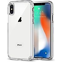 Spigen [Ultra Hybrid] iPhone X Hülle, Einteilige Transparent Handyhülle Durchsichtige Rückschale mit Silikon Bumper Schutzhülle Case (Crystal Clear)