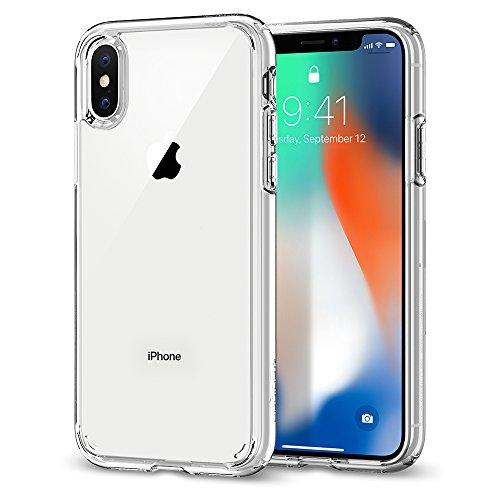 Cover iPhone X, Cover iPhone 10, Spigen® [Ultra Hybrid] Custodia iPhone X con tecnologia Air Cushion e Protezione da goccia ibrida per Apple iPhone X (2017) - Matte Black - 057CS22129 Crystal Clear