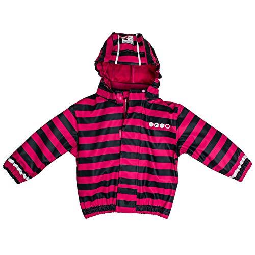 Salt and Pepper Jacket RB B Girls Stripe Veste imperméable, Pink 870, 86 cm Bébé Fille