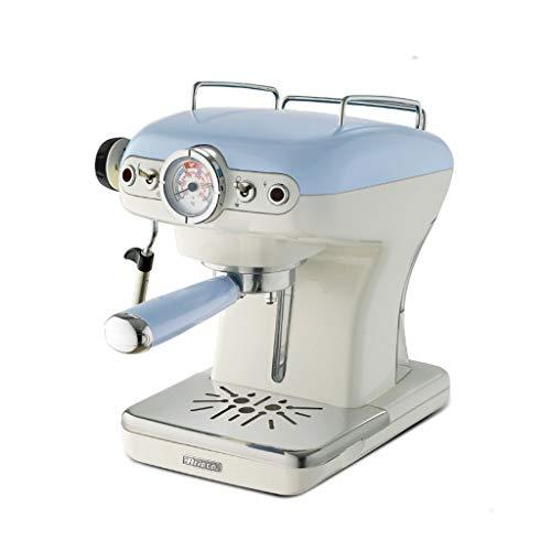 Espresso-Maschine Haus halbautomatische Kaffeemaschine Dampf-Milch-Maschine multifunktionale kommerzielle Kaffeemaschine Pumpe Kaffeemaschine (Color : Blue, Size : 23 * 28 * 31cm)