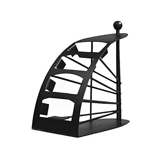TV-Fernbedienung Holder Organizer Handlich Metall Tidy Platzsparender TV RC Aufbewahrung Rack Desktop Treppe Schritt Form Fernbedienung Ständer Caddy Rack für TV DVD VCR-Fernbedienung (Boot-rack Ski-und)