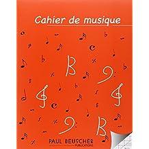 Cahier de musique 12 portées et pages d'écriture Seyes