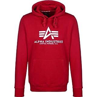 Alpha Industries Herren Hoodie Basic 178312 Speed red (328) XXL