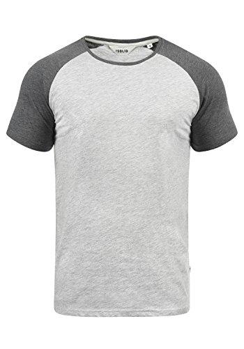 !Solid Bastian Herren T-Shirt Kurzarm Shirt mit Rundhalsausschnitt, Größe:S, Farbe:Light Grey Melange (8242) (T-shirt Baseball-leichtes)