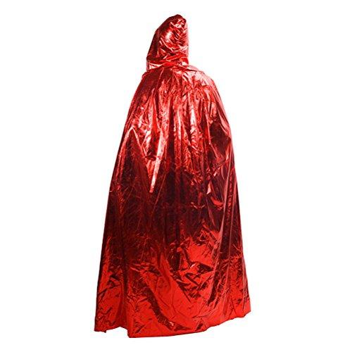 n Kostüm Herren Mens Damen mit Kapuze Robe Umhang Halloween Partei/Maskenspiel Grim Reaper Cosplay Costume,Size 1.3m, 1.5m, 1.7m ()