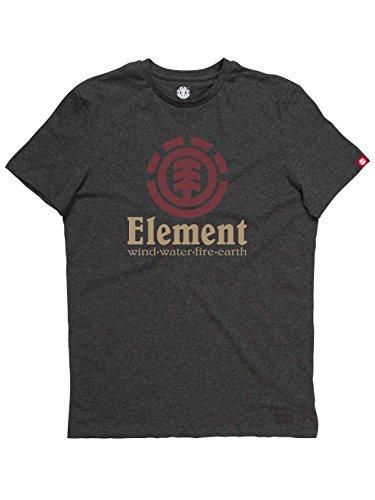 Element Herren Vertical Ss Shirt und Hemd Charcoal Heather