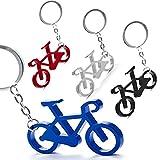 Lote de 50 Llaveros Aluminio BICICLETA - Llaveros de Aluminio de colores en Forma de Bicicleta - Llaveros para Carreras ciclistas, Vueltas Ciclistas. Regalos para ciclistas originales y muy baratos