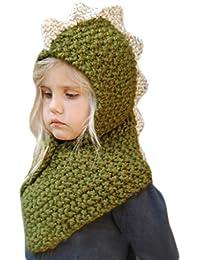 Vivianu - Conjunto de gorro y bufanda de invierno unisex para niños 0379e20ab52