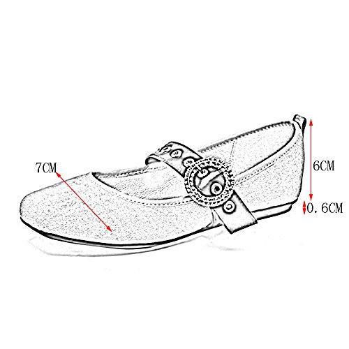 PENGFEI Ballerine Stivaletti scarpa Nuovo Stile Di Primavera A Fondo Piatto Bocca Superficiale Testa Rotonda Adulto Da Donna 2 Colori ( Colore : Rosa , dimensioni : EU38/UK5.5/L:240mm ) Nero