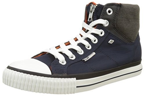 British Knights Opie, Mocassins Homme Bleu (navy/dk Grey/orange)