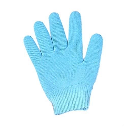 Likecrazy Baumwoll Handschuhe Damen Hautpflege Handschuh Winter Fingerhandschuhe Damen Accessoires Sportbekleidung Snowboard Fäustlinge(Blau,one size) -