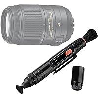 DURAGADGET Lápiz Limpiador Para Lente Nikon AF-S DX VR 55-200mm F4-5.6 GII // VR 55-300mm F4.5-5.6 VR // VR 70-300mm F4.5-5.6 G - ¡Con Cepillo Y Esponja! - Elimina Restos De Arena Y Polvo