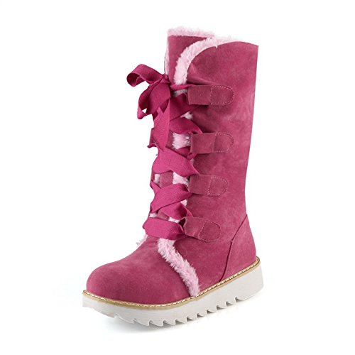 Adee, Bottes pour Femme Rose/rouge