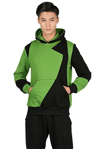 Cosplay Hoodie Anime Jacket Mix Color Mantel Spleißen Baumwolle Kapuzenpulli Unisex Sweatshirt Kleidung Kostüm (Possible Kostüm Kim)