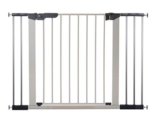 Baby Dan 60117-2695-02-85 Premier Tür/Treppenschutzgitter zum Einklemmen, 73.5-112.8 cm, silber/schwarz