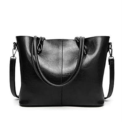 Mzdpp High Capacity Waxy Leder Handtasche Luxus Fashion