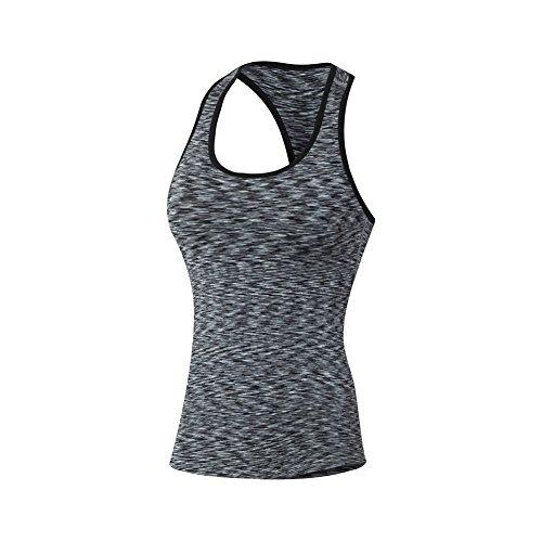 Yalatan Damen Fitness Yoga Ohne Arm Tank Schnell trocken Weste Sport Gym Stretch T-Shirt - Easy Care L/s Shirt