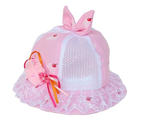 Smile YKK Enfant Bébé Bucket Hat Mignon Chapeau Souple Bob Solaire Plage Voyage Camping Hollow-out Rose