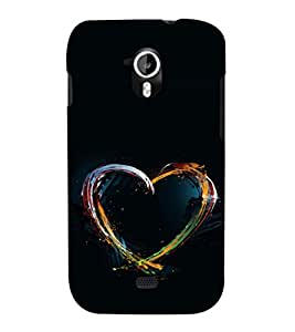printtech Colored Heart art Back Case Cover for Micromax Canvas HD A116::Micromax Canvas HD Plus A116Q
