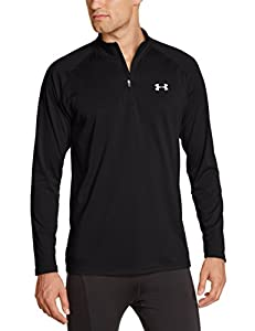 Under Armour Herren Fitness Sweatshirt UA Tech 1/4 Zip, Schwarz (Black), L, 1242220-003