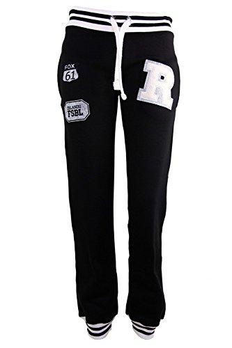 Coole Damen Jogginghose ' R ' in verschiedenen Farben Schwarz