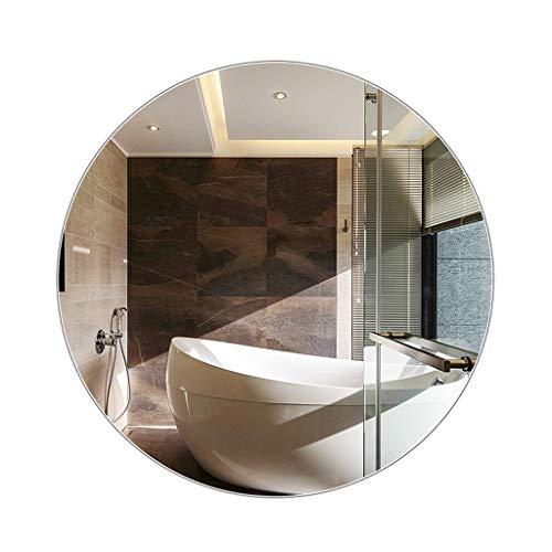 Miroirs Rond De Salle De Bains sans Cadre Salle De Bains Entrée Tenture Rond (Color : Silver, Size : 70 * 70 * 8cm)