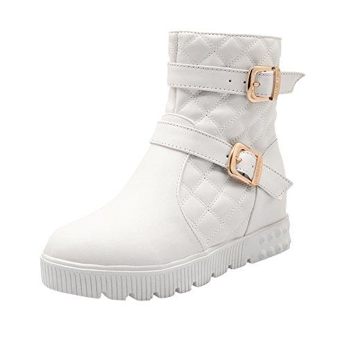 Mee Shoes Damen warm gefüttert Reißverschluss hidden heel Stiefel Weiß