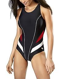 Gwinner Badeanzug Sportbadeanzug Schwimmanzug Bademode Damen einteilig sehr bequem und elastisch, mit weichen, herausnehmbaren Körbchen, aus hochwertigem Material made in EU Liana