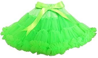 ES21 Girls Skirt Tutu Dancing Dress Party Green Shinning Size 2-3 Years