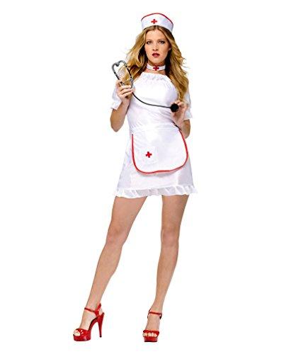 Horror-Shop Sexy Krankenschwestern Kostüm (Verrückte Krankenschwester Kostüm)