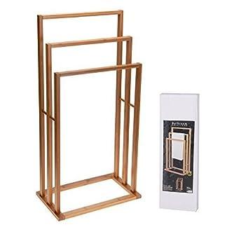 41JTyLPzlYL. SS324  - Only clic @ toallero de madera de bambú de mano de la mano de baño y soporte para 3 barras de toallas de mano de la secadora