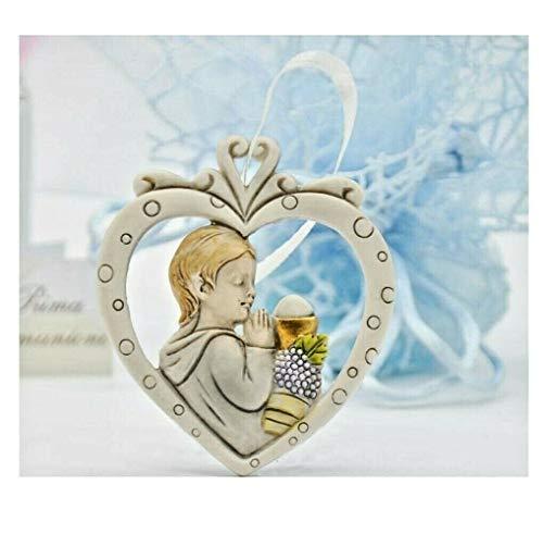 Langolo idee bomboniere prima comunione bimbo icona cuore con calice vino e osta icona