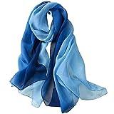 pañuelo de seda Mujer 100% seda Mantón Bufanda Moda Chals Señoras Elegante Estolas Fular 70,8 'x 27,5''
