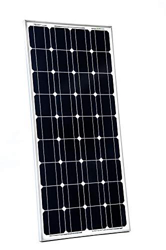 WATTSTUNDE WS100 Mono Solar 12V Solarmodul - Solarpanel monokristallin für Camping Outdoor Wohnwagen (100W)