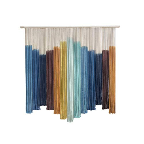 Nwn nordic large macrame tapestry, colorful ethnic wall hanging home decor 39.4