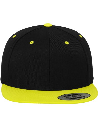 Flexfit - Casquette de Baseball - Homme Taille unique Multicolore - black/neonyellow