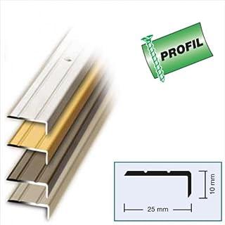 Winkelprofil zum Schrauben 100 x 2,5 x 1 cm Alu Edelstahl Optik