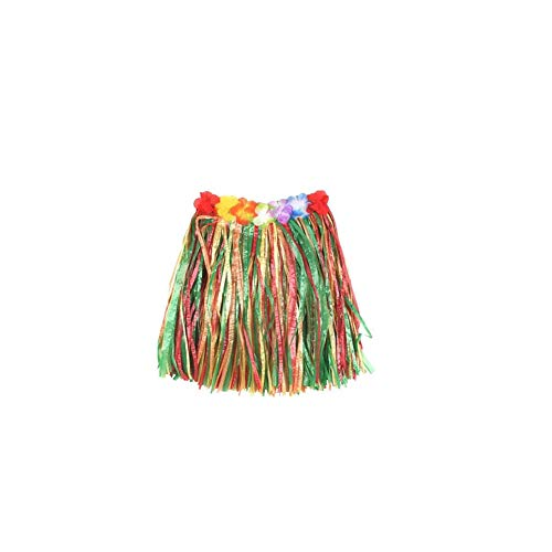 song rong Elastic hawaiianischen Hula-Tänzer Baströckchen des Kindes mit Blumen-Dekoration auf der Taille Luau Partei-Bevorzugungen-Multi-Color