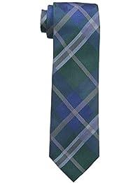 Vince Camuto Men's Vetero Plaid Tie, Blue, One Size