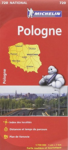 Carte NATIONAL Pologne par Collectif Michelin